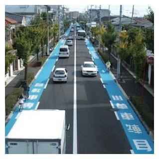 自転車の 兵庫 自転車 事故 : 自転車専用通行帯の設置例 ...
