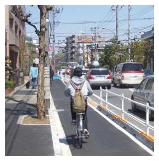 自転車道の整備例(東京都三鷹 ...