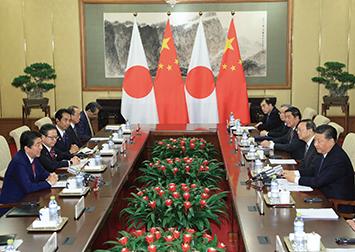 10月の日中首脳会談(時事通信)